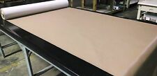 """45' FOOT ROLL BEIGE FAUX LEATHER AUTO UPHOLSTERY FABRIC VINYL 54""""W PLEATHER"""