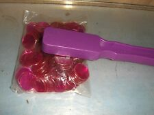 100 New Style Magnetic Professional 3/4 inch Violet  Bingo Game Chips and 1 Wand