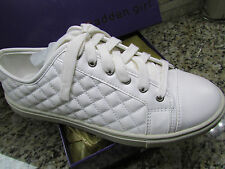 NEW MADDEN GIRL EVETTEE WHITE LACE UP SNEAKER STYLE SHOES WOMENS 7.5 FREE SHIP