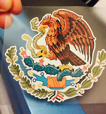 "Mexican Coat of Arms Sticker Decal Mexico Flag Car Truck Vinyl 4"" x 3.75"""