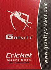 Gravity Cricket Coloured Score Book (20 Innings) + AU Stock + Free Next Day Ship