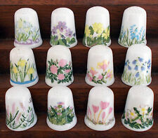 Scotland Direct Caverswall Months of the Year - Complete Set of 12 Thimbles