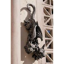 Two Headed Hanging Gargoyle Sculpture Gothic Dragon Collectible