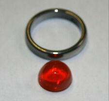 Natural loose Mexican Fire Opal gemstone 4.3ct cabochon 11mm bullet gem opl02