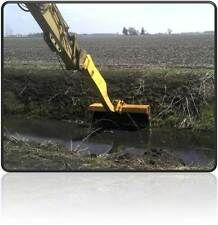 LONG REACH EXCAVATOR ATTACHMENT DREDGE BARDGE ARM BUCKET SWAIL DEMO THUMB