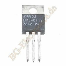 2 x lm340t-12 12 volts 3-pin positif festspannung régulateur NS to-220 2pcs