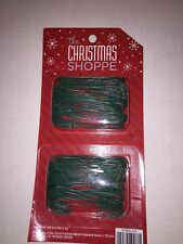 Set of 120 Christmas Shoppe Metal Ornament Hooks - Green