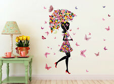 Wall Stickers Umbrella Girl And Butterflies For Kids Room 57000136