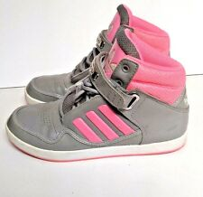 Adidas Basketball Shoes Grey Pink Womens 7.5 Girls Athletic Gray 004001 Retro