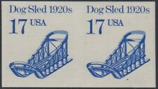 "#2135a 17¢ ""DOG SLED"" IMPERF PAIR MAJOR ERROR CV $375.00 BR1470"