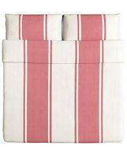 Ikea bjornloka King cubierta del edredón edredón/& Fundas De Almohada-Pink & White Stripes