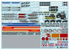 Tamiya 54630 1/10 RC Sponsor Sticker Set For Off Road Truck/Pick Up/Crawler/CC01
