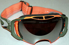 OAKLEY AIRBRAKE DISRUPTIVE OLIVE/ORANGE W/ BLACK IRIDIUM LENS GOGGLES NEW