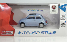 "MondoMotors 53140 FIAT 500 ""1969"" Celeste - METAL Scala 1:43"