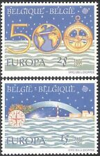 Belgium 1992 Europa/Columbus/Discovery of America/Lighthouse/Map 2v set (n43147)