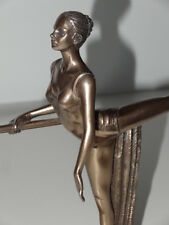 Art Deco Ballet Dancer Lady Figure on Wall Bar Bronze Resin Finish