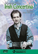 Learn To Play The Irish Concertina Tutor Lesson DVD NEW