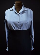 GLOSSY TOP BLOUSE SILKY SHINY LADYLIKE TV MISTRESS RETRO CHIC SECRETARY 12 14