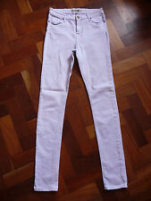 TOPSHOP JAMIE WOMENS LIGHT LILAC SLIM FIT DENIM JEANS W30 L34