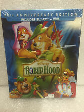 ROBIN HOOD New Sealed Blu-ray + DVD 40th Anniversary Edition Disney SlipCover