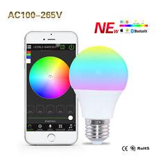 iOS Android App Control Bluetooth Magic RGB LED Smart Bulb Light Lamp E27 4.5W