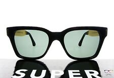 RETROSUPERFUTURE Super Sunglasses America Francis Black Gold 773 / Black New