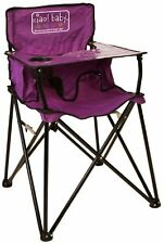 CIAO! BABY HIGH CHAIR, Purple Folding Portable Todler HIGHCHAIR, HB2012