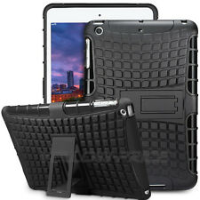 Heavy Duty Kid Proof Hybrid Shockproof Case Hard/Soft Stand Cover for iPad Mini