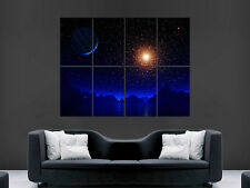 NIGHT SKY STARS PLANETS SKY DARKNESS SPACE  WALL POSTER ART PICTURE PRINT LARGE