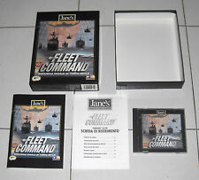 Gioco Pc Cd FLEET COMMAND Strategia navale Jane's BOX OTTIMO ITA 1999