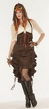 Steampunk Saloon Girl Brown Skirt Victorian Costume Accessory Size Standard