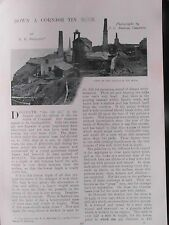 Cornish Tin Mine Dolcoath Levant Camborne Botallack Cornwall Mining Pit Accident