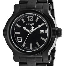 New Big Mens Renato T-Rex Black Dial Pro Diver Rugged Mans Watch