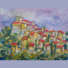 Ansouis Provence Original Oil Painting French Impressionism Signed Jaubert