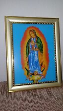 """****New Picture Frame Lady of Guadalupe with Light. 8.5"""" x 6.5"""".****"""