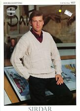 Country Style DK Men's Sweater - Sirdar KNITTING PATTERN #9537 34-48""