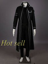 Sword Art Online Anime Cosplay Costume Kirito Kazuto Kirigay Cloak S-XXL Fabric