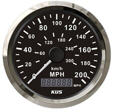 200 MPH Car Stainles GPS Speedometer 300 km/h  waterproof Digital Gauges Black