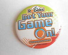 Cool 2008 Robeks' Grocery Store Get Your Game On Sweepstakes Advertising Pinback