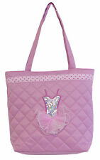 New Girls Light Pink Quilted Tutu Dance Tote Bag