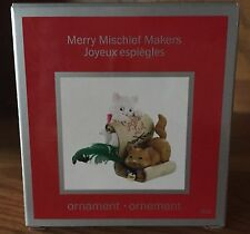 Heirloom Carlton Cards Merry Mischief Makers #032 Cat Christmas Ornament 2011