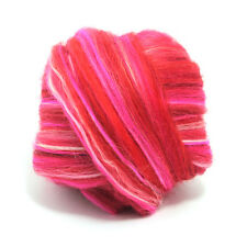 100g DYED MERINO WOOL TOP ARIES BLEND DREADS 64's SPINNING FELTING ROVING