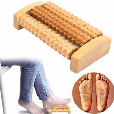Handheld Wooden Roller Massager Reflexology Hand Foot Back Body Therapy Relax AW