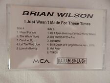 """Brian Wilson """"I Just Wasn't Made For Thes Times"""" RARE ADVANCE CASSETTE! RARE++!!"""
