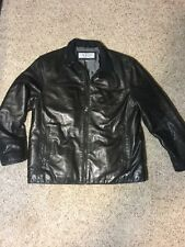 MARC NEW YORK LARGE ANDREW MARC Black Soft LEATHER Moto FLIGHT BOMBER JACKET
