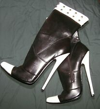 FETISH Elizabeth Charles  Size 10 Studded High 7 INCH Heel Boots Stripper Fetish