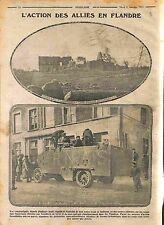 Ruines Ferme Bataille des Flandres/Armoured vehicle British Army  WWI 1915