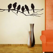 Wall Decal stickers Removable Black Bird Tree Branch Art Home Mural Decor Vinyl