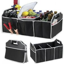 Car/Truck/SUV/Van/Trunk Organizer Folding Collapsible Storage Bag Portable Black