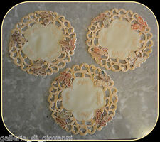 "Butterfly 7.5"" Doilies SET OF 3 Lace Doily Coater & Craft"